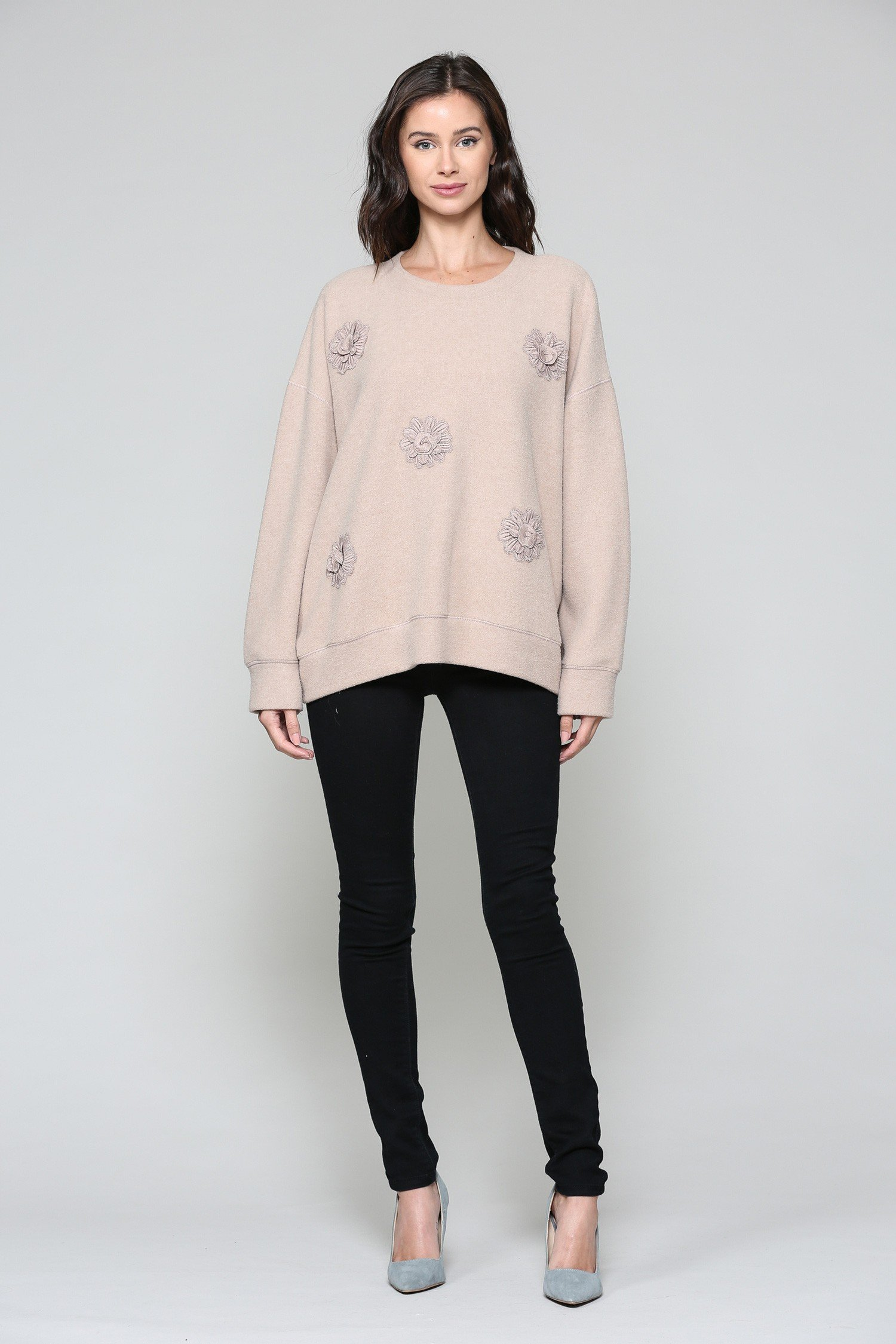 Serena Sweater -Tan - Front