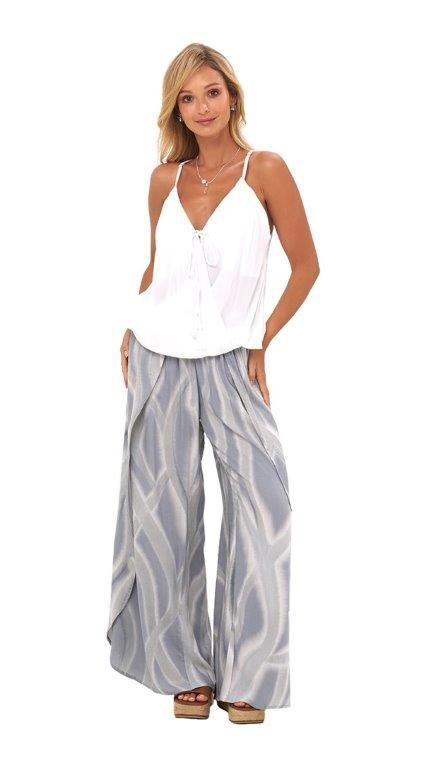 Maile Pants -Ebb grey - Front