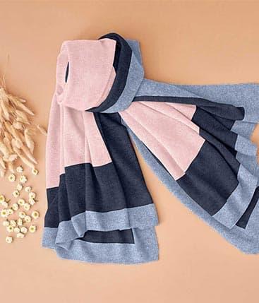 Cashmere Colorblock Shawl