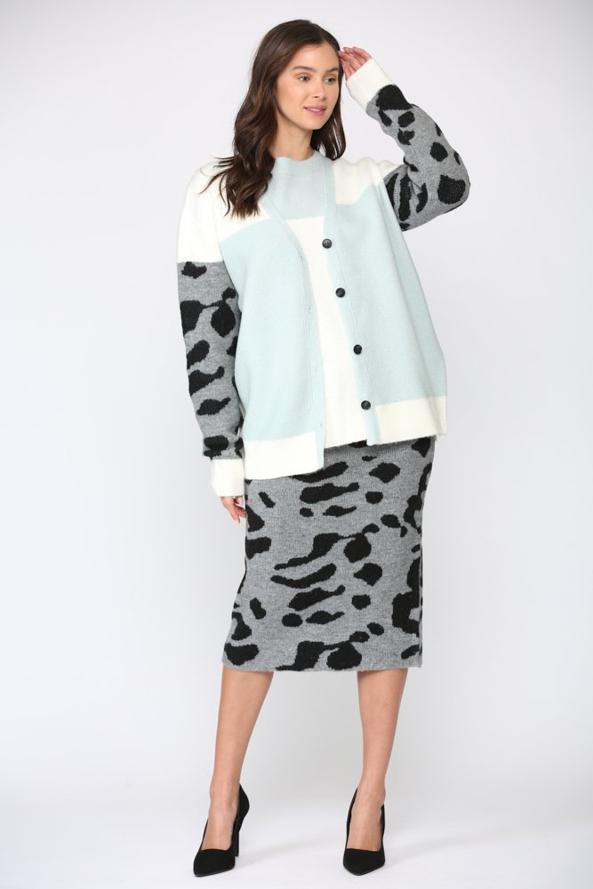 Stacy Cardigan -Multi - Front