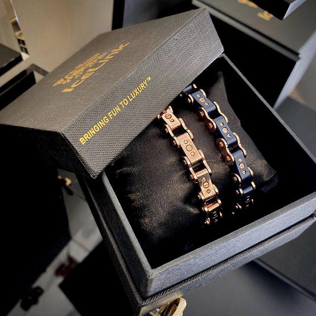 Porcelain Black & Silver Diamond 9.5MM Bracelet in box