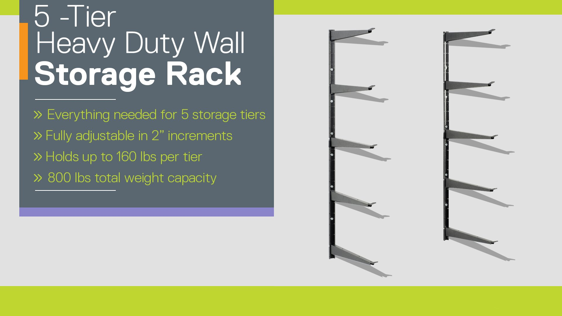 5-Tier Heavy Duty Storage Rack instructions