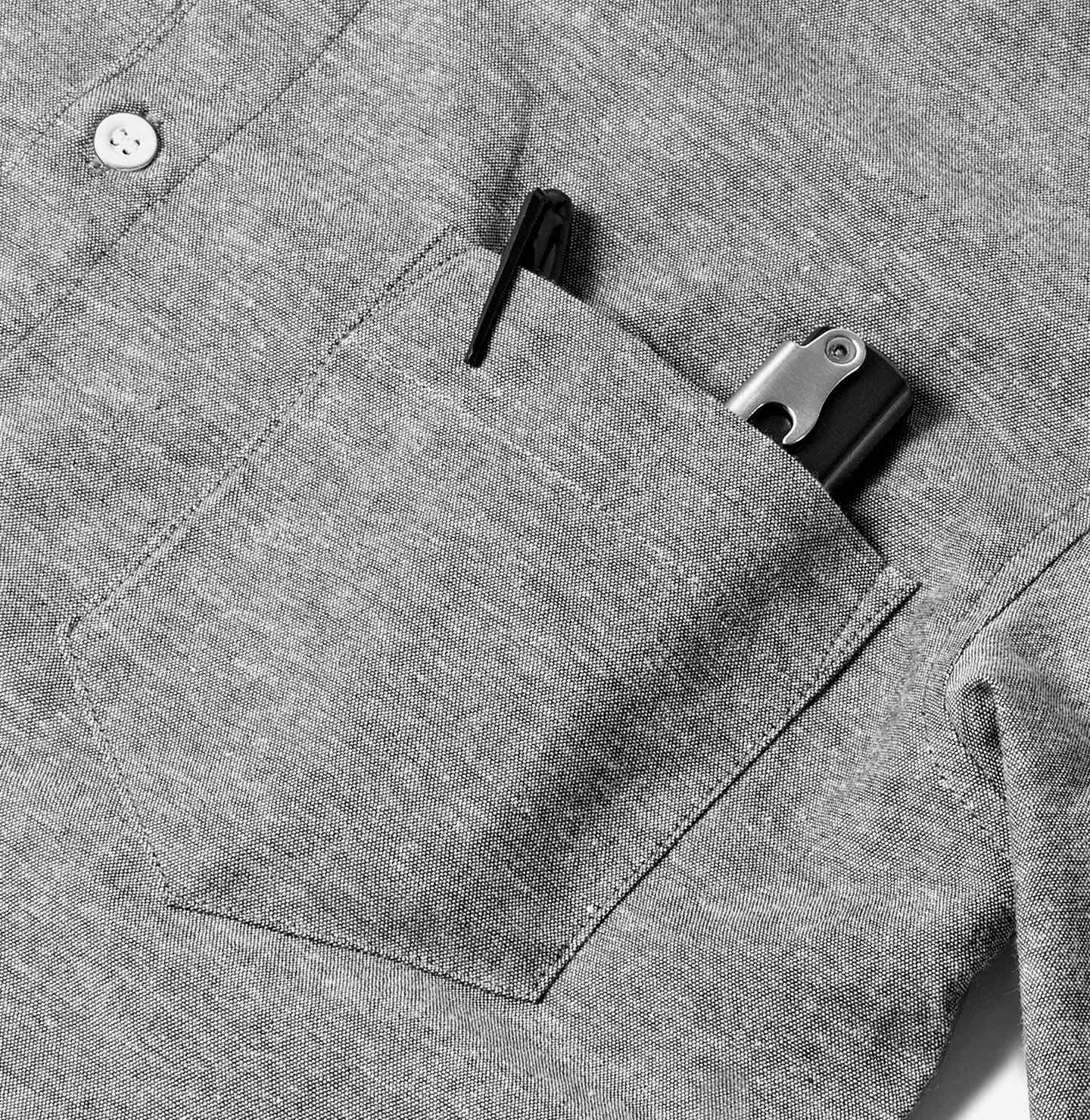 Chest Pocket with Inner Pen Loop