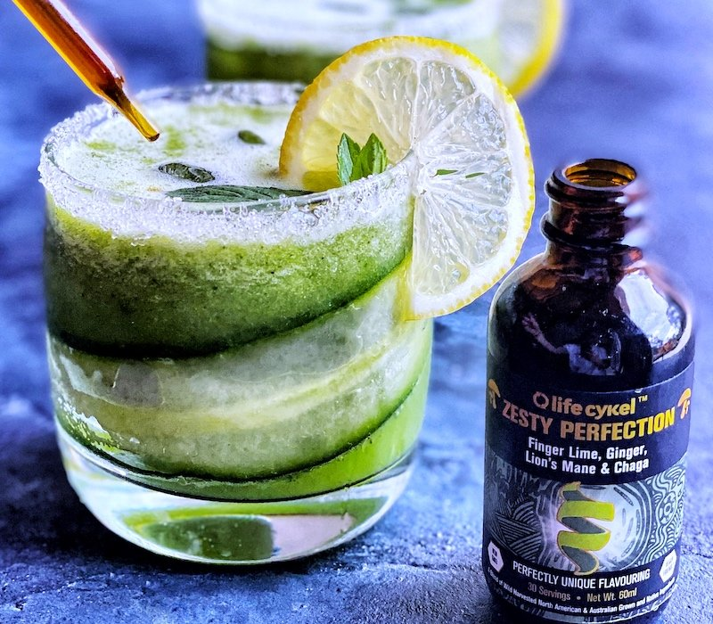 Zesty Cucumber and Mint Mocktail