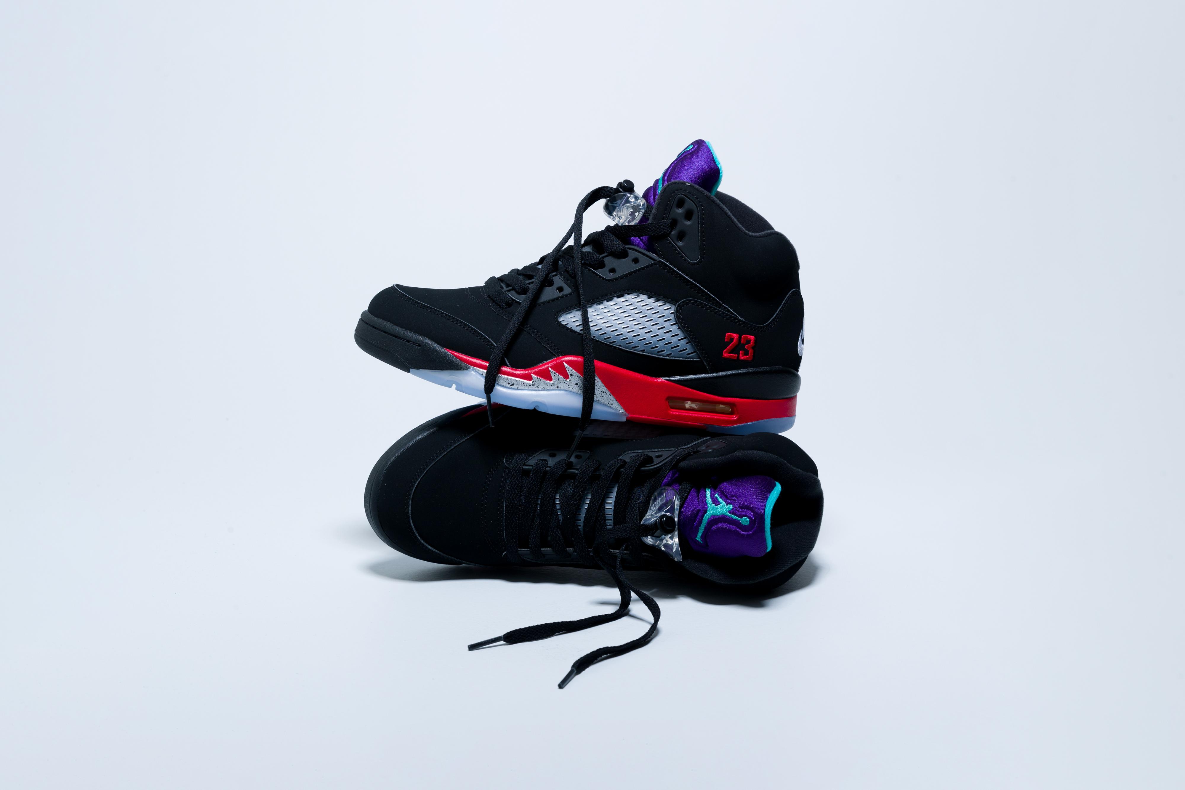 Jordan - Air Jordan 5 Retro - Black/Fire Red-Grape Ice-New Emerald - Up There