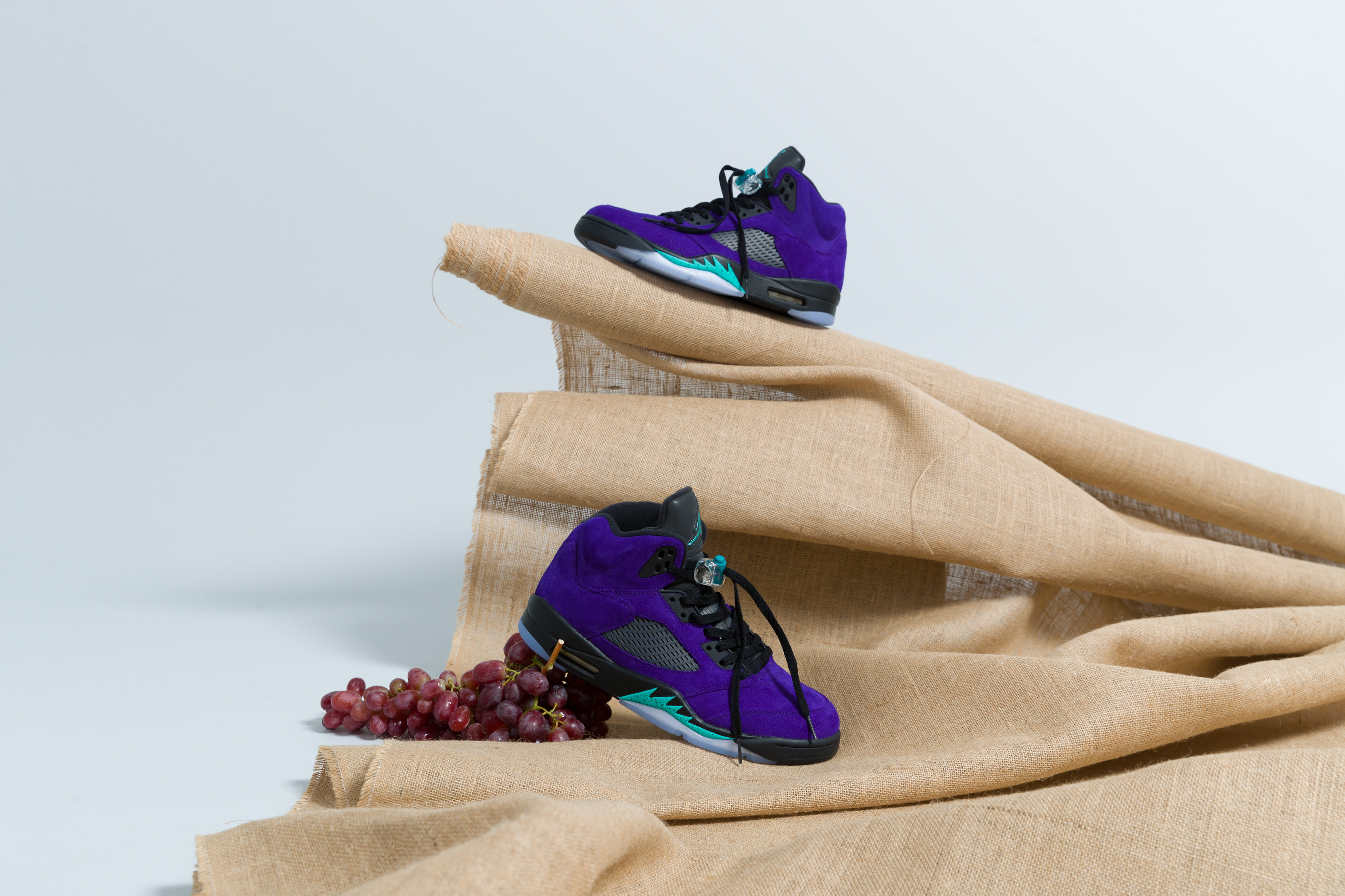 Jordan - Air Jordan 5 Retro - Grape Ice/New Emerald-Black - Up There