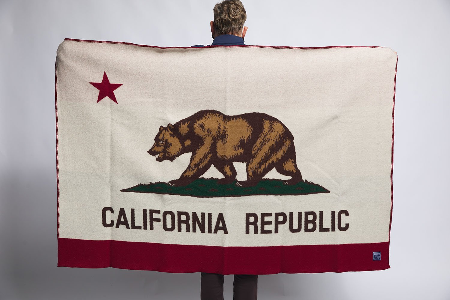 image of California Flag Wool Throw