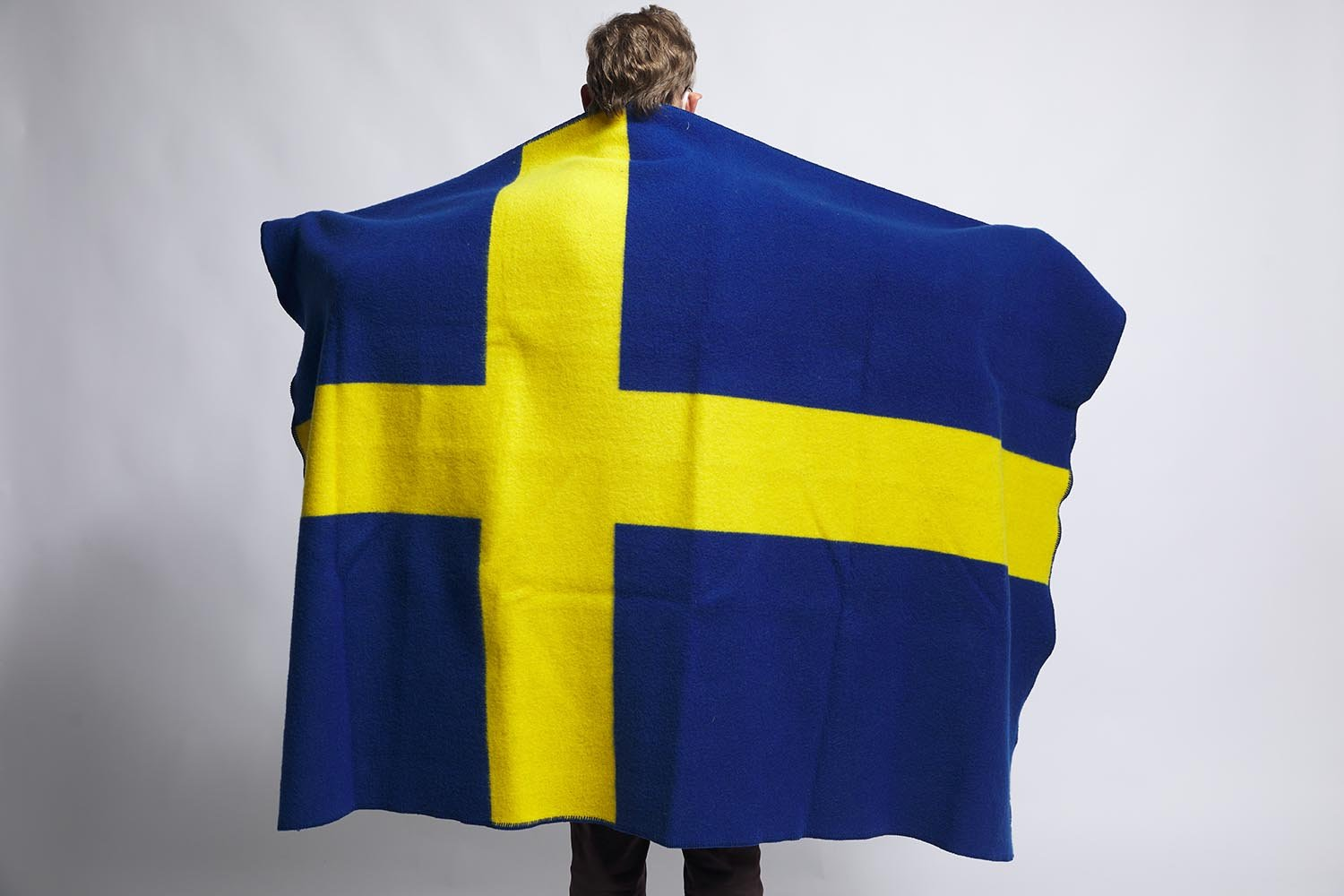 image of Swedish Flag Wool Throw
