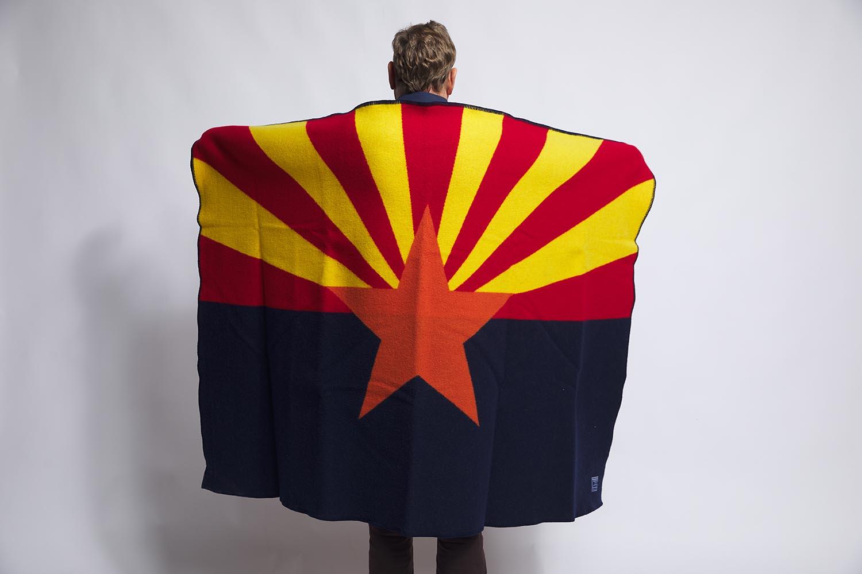 image of Arizona Flag Wool Throw