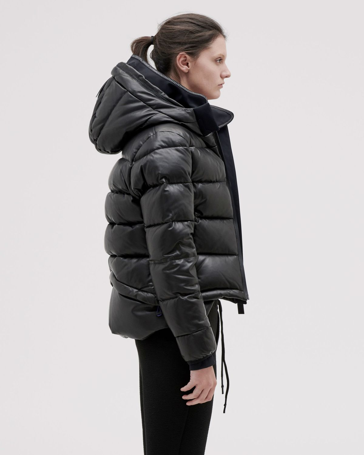 Women's Tuscan Leather Puffer Jacket