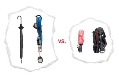 we're goin' head to head with the umbrella stroller! how, do you ask?