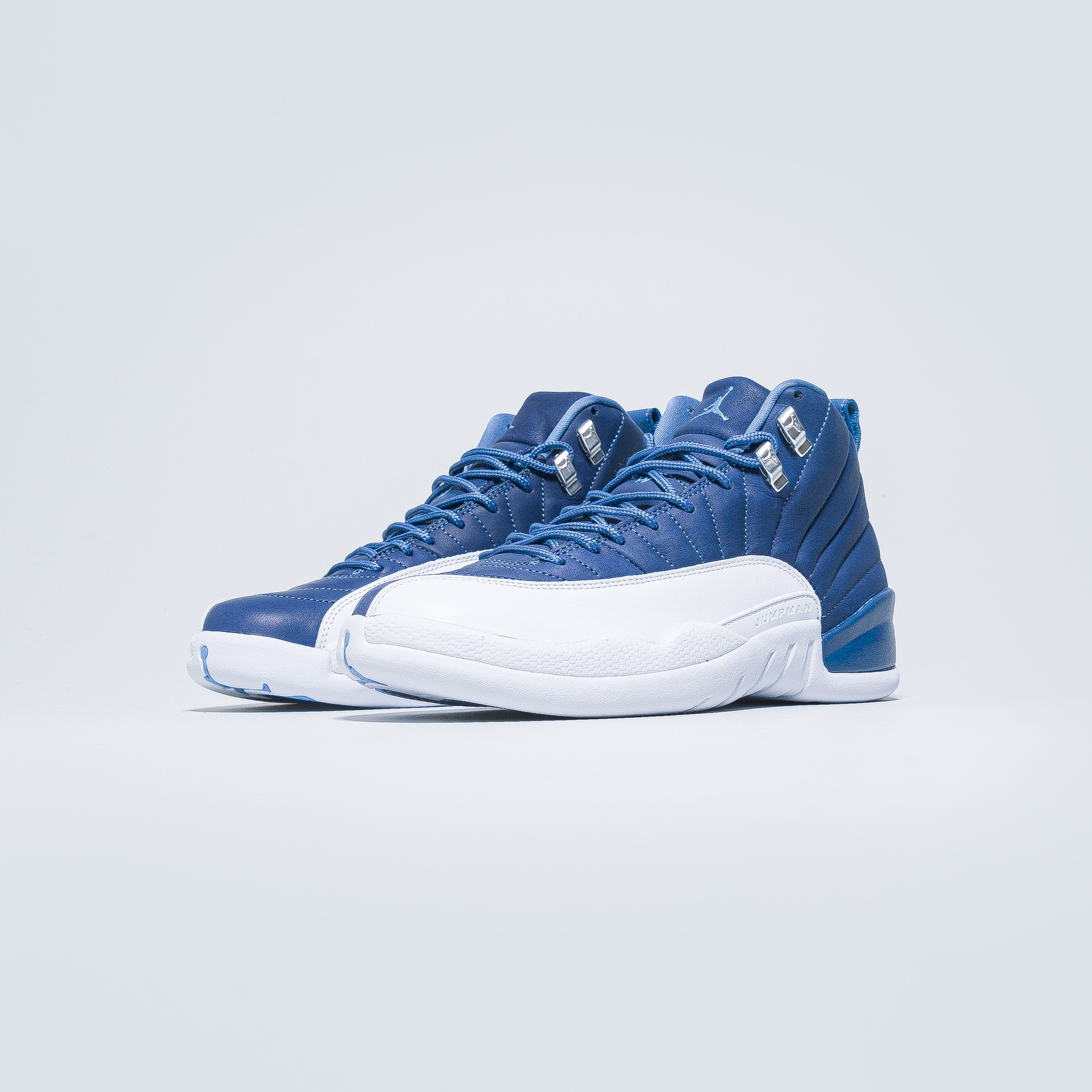 Jordan - Air Jordan 12 Retro - Stone Blue/Legend Blue-Obsidian - Up There