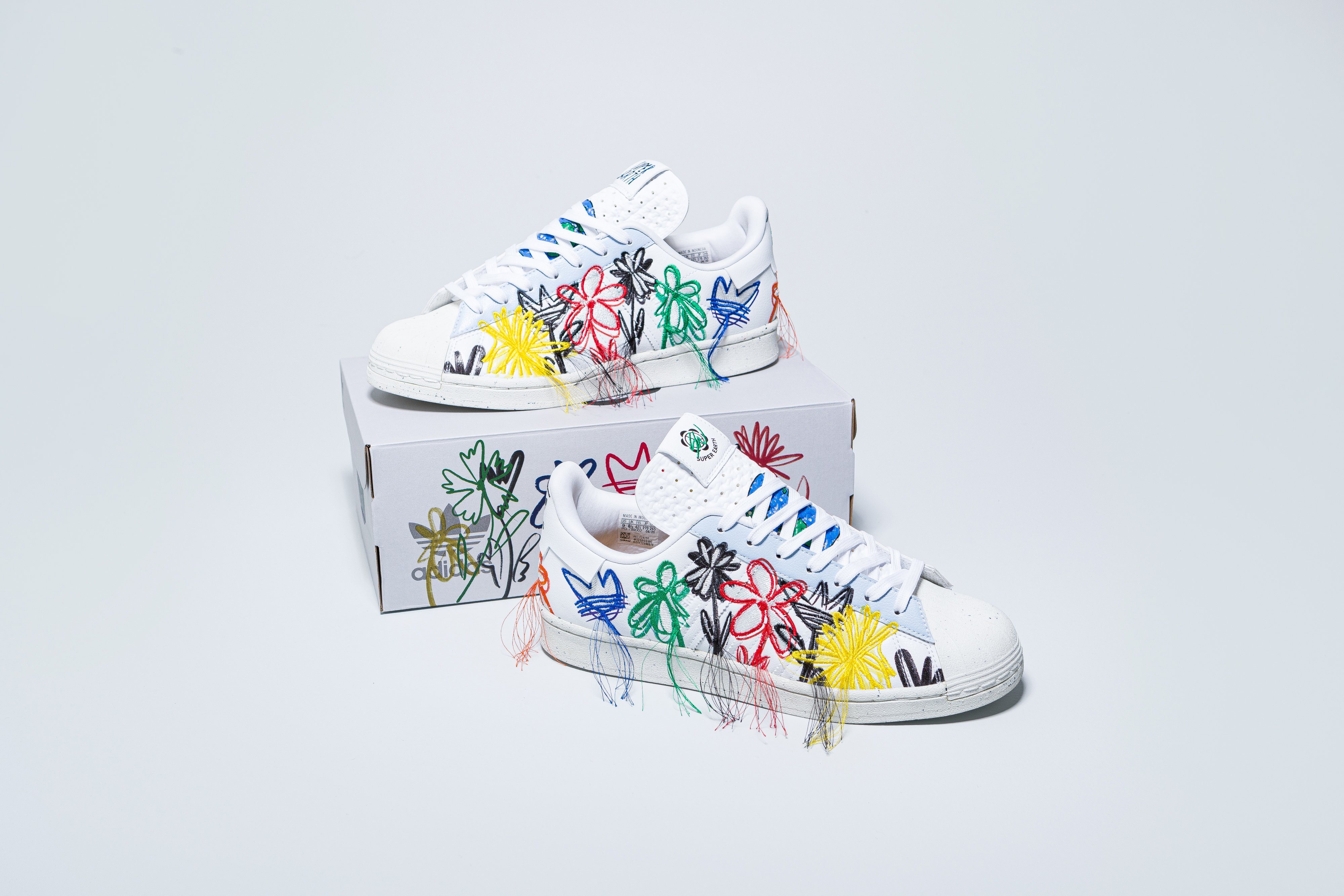 adidas - Superstar Superearth x Sean Wotherspoon - Footwear White/Footwear White - Up There