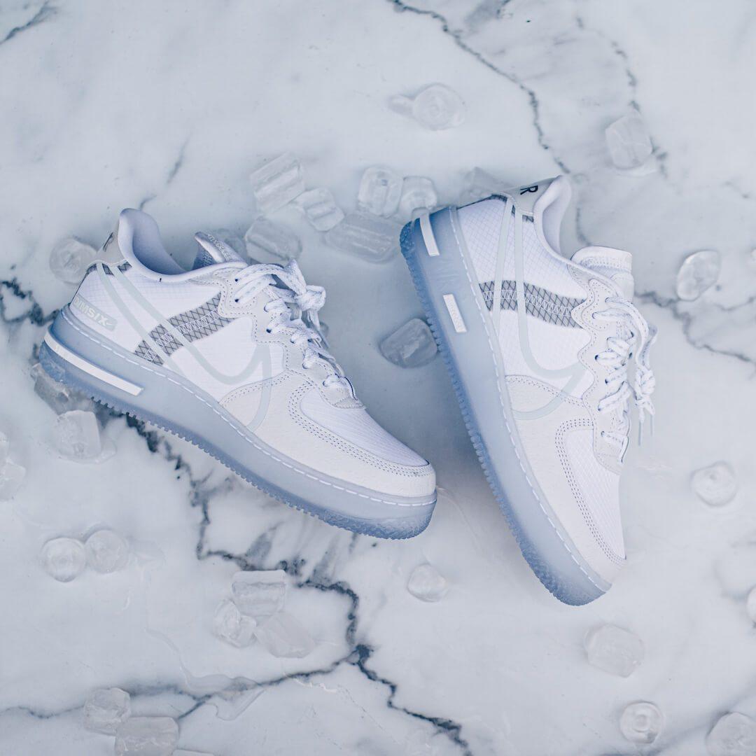 Nike Air Force 1 React White Light Bone