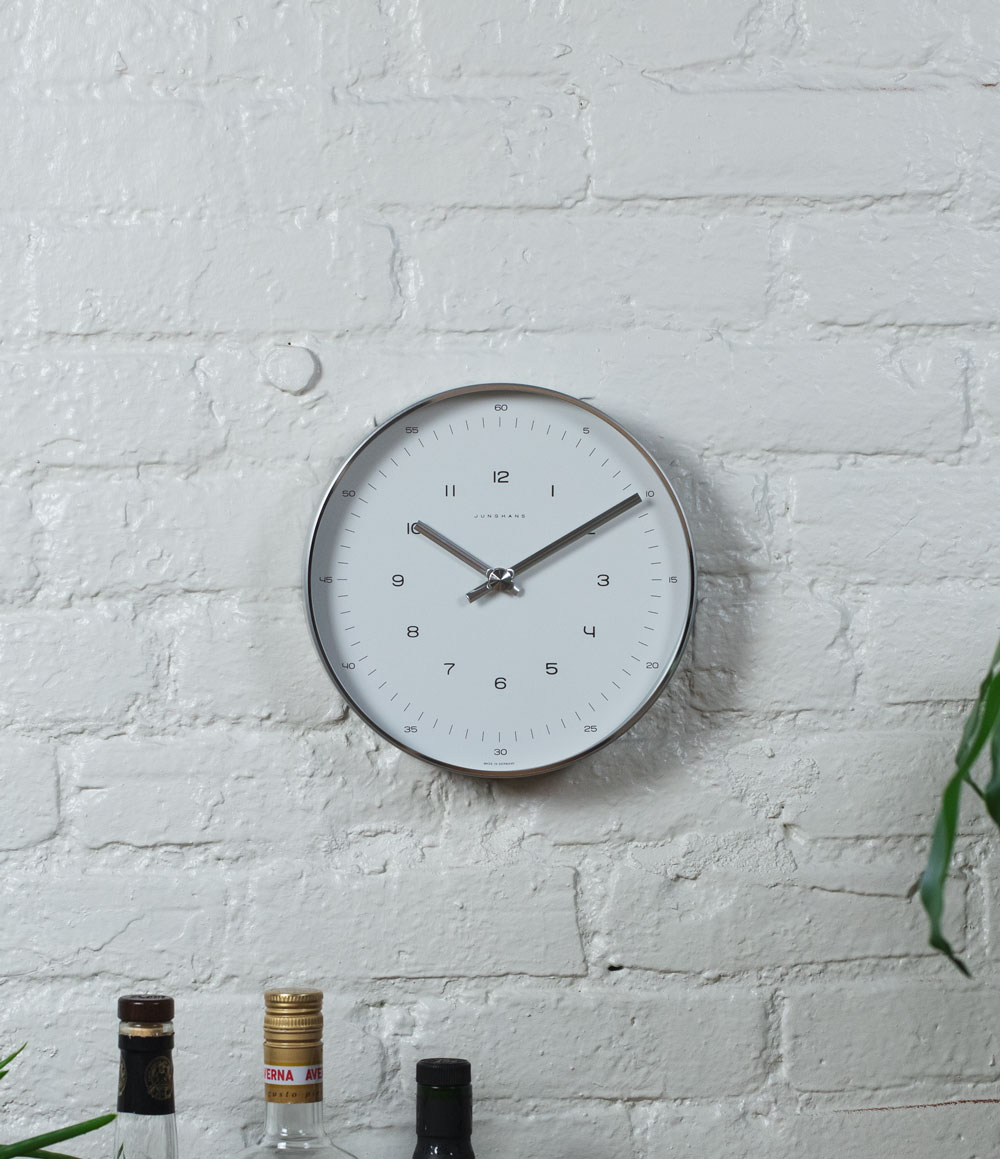 Max Bill 8 Inch Wall Clock