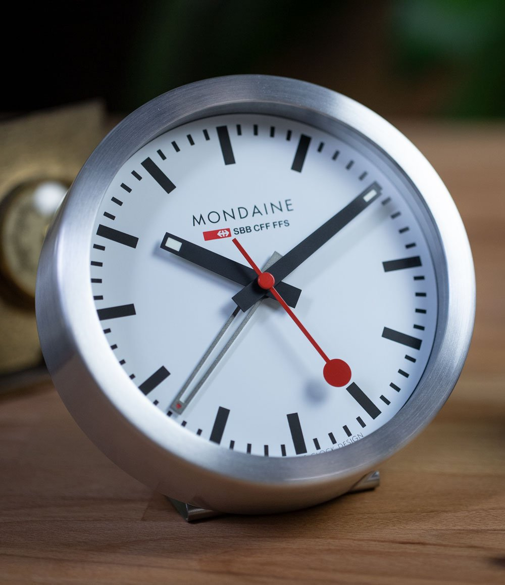 2-in-1 Swiss Railway Alarm Clock