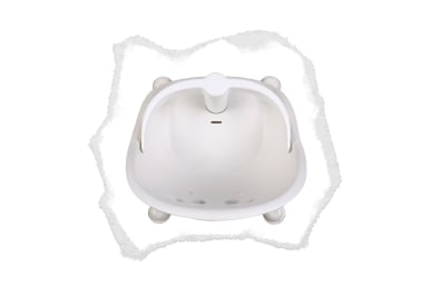 all round 360° support so bub is propped up safely during bath time in the bath, leaving your hands free