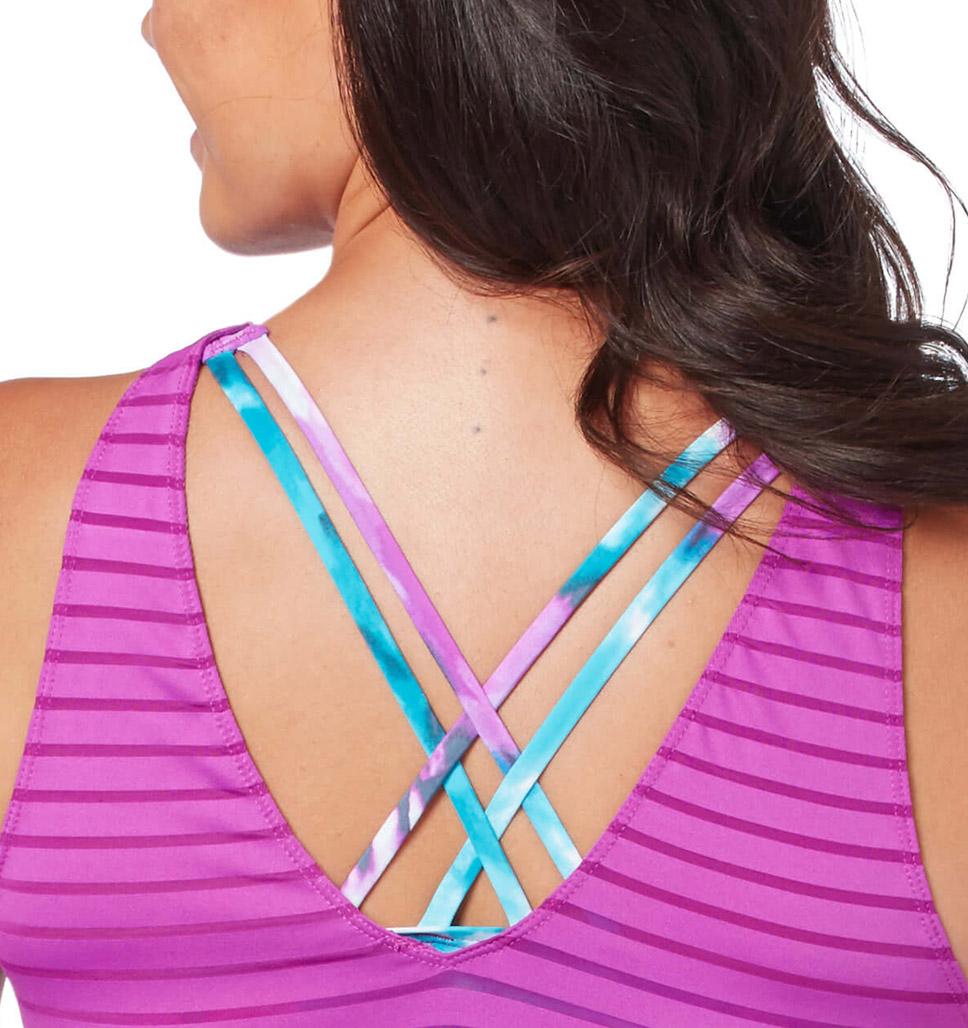 Women's Tiki Dye Mesh Blouson Tankini Top