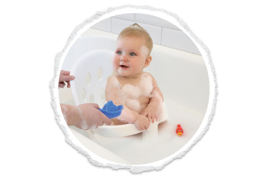 unleash the potential of poppy with poppy™ bath seat!