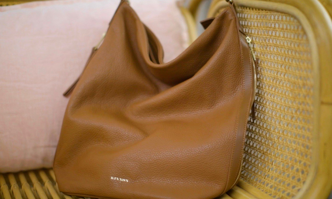 thumb-GINNI TOTE BAG - BUTTERSCOTCH