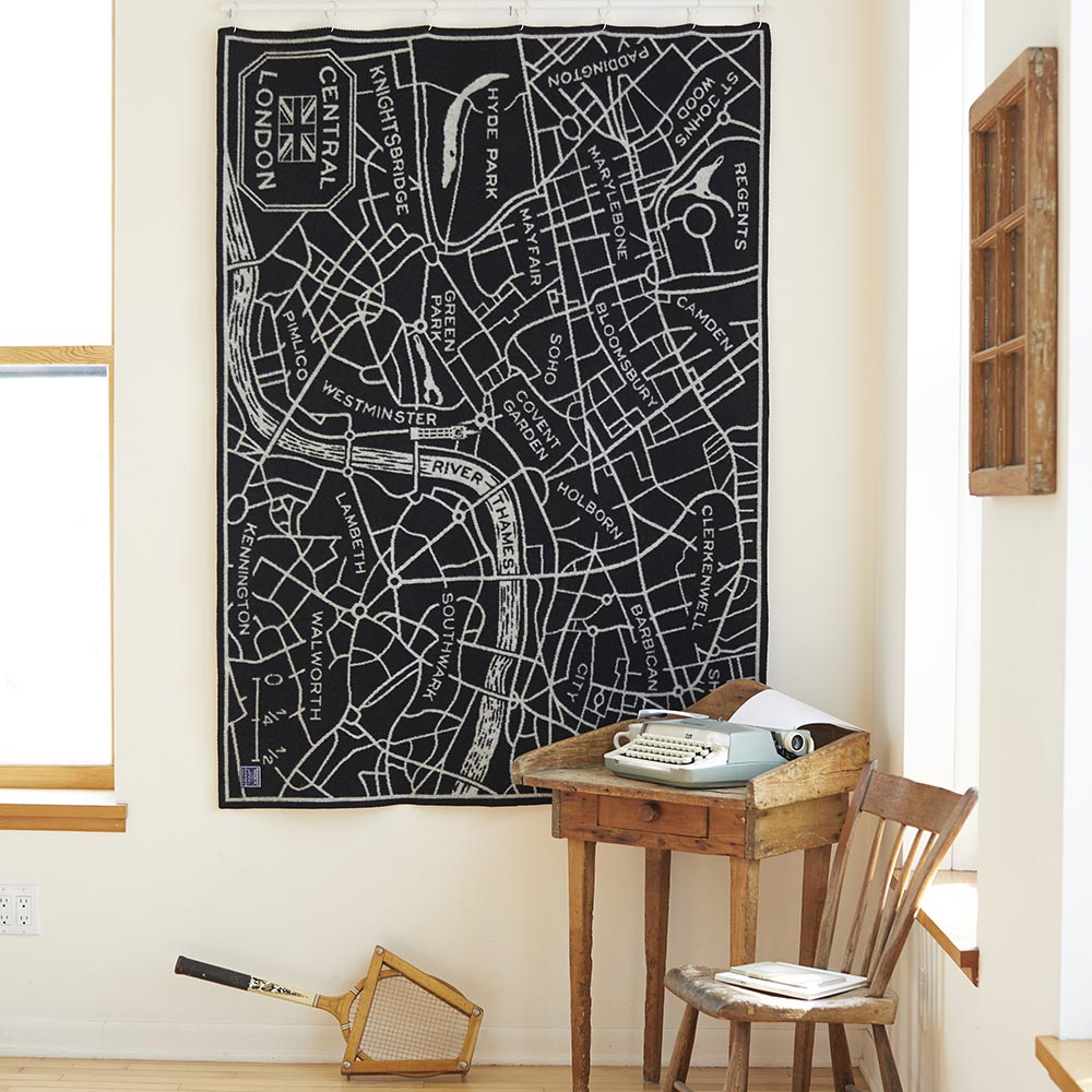 image of London Map Wool Throw