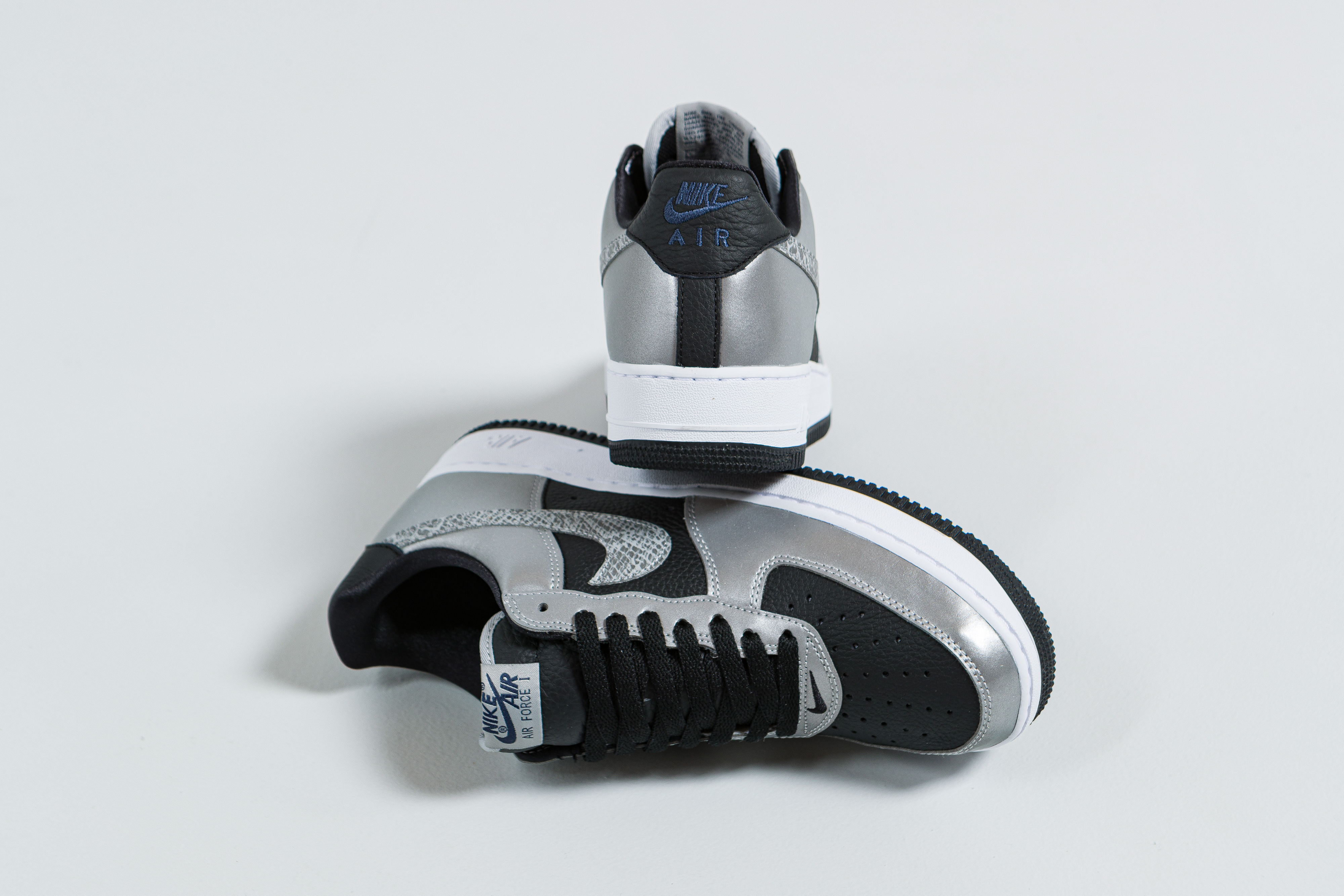 Nike - Air Force 1 B - Black/Black-Silver - Up There