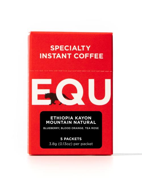 Ethiopia Kayon Mountain Natural Instant Coffee, 5-Pack