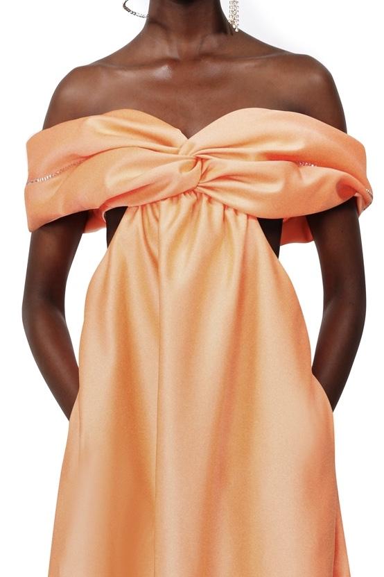 Draped Cutout Gown