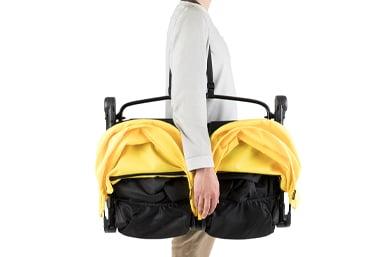a convenient shoulder strap for hands free transportation