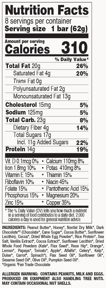 Double Dark Chocolate nutritional information