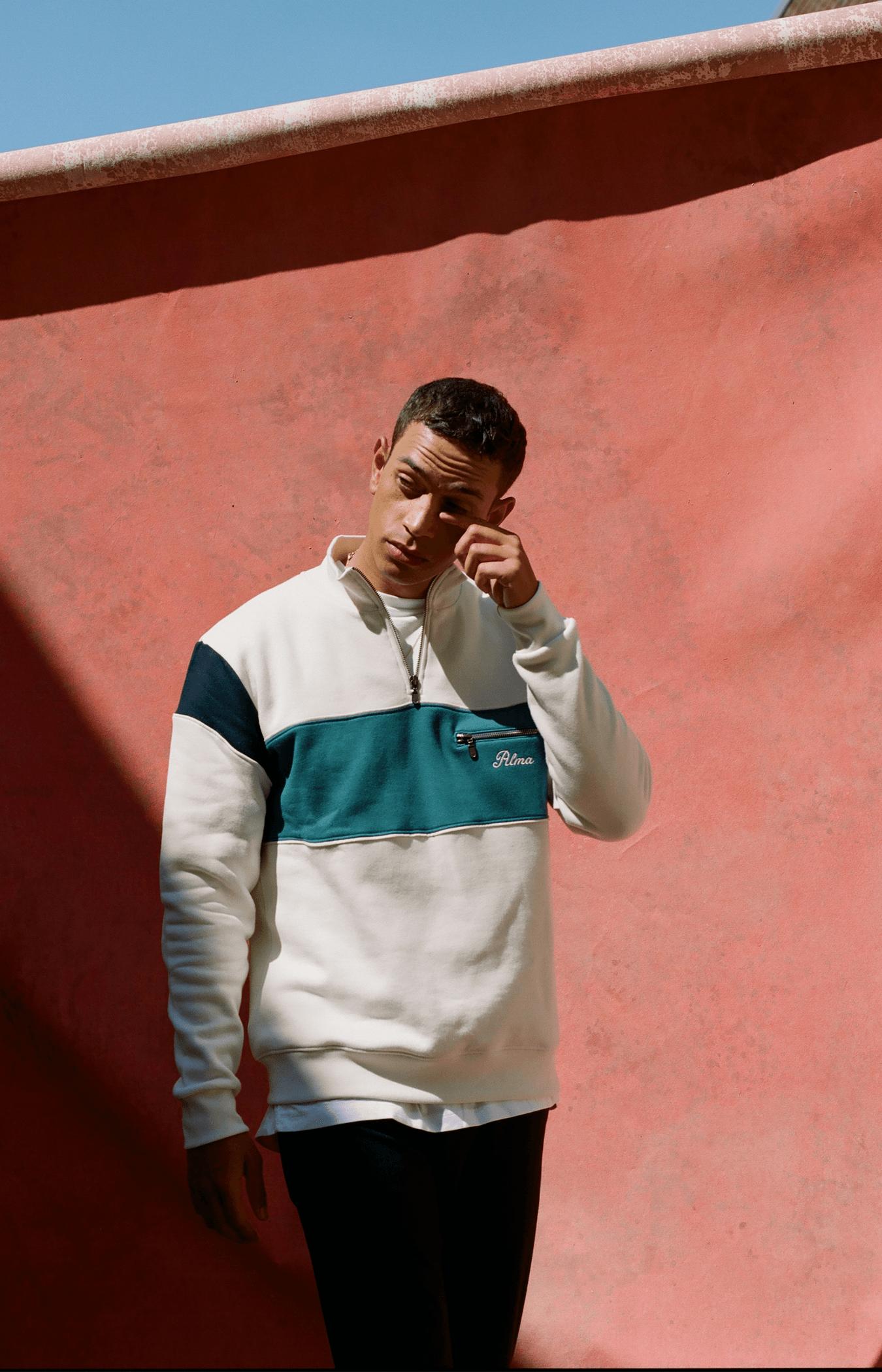 Cream Aquila 1/4 Zip Sweatshirt