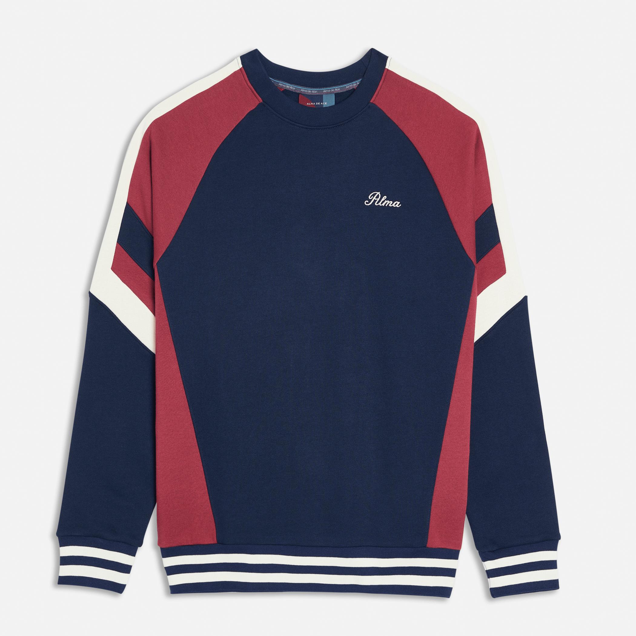 Navy Burgundy Peli Sweatshirt