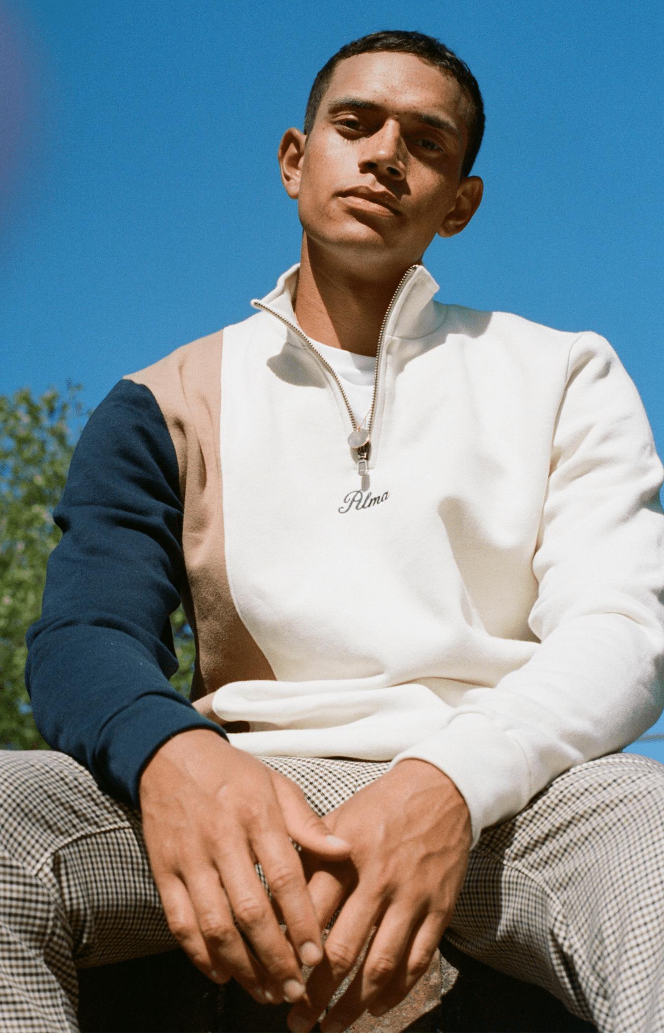 Cream Mock Neck Nola Sweatshirt
