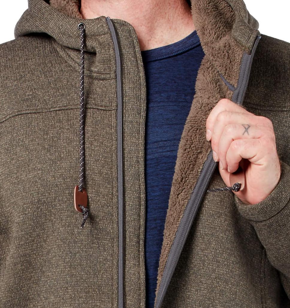 Men's Textured Osprey Mountain Fleece Jacket