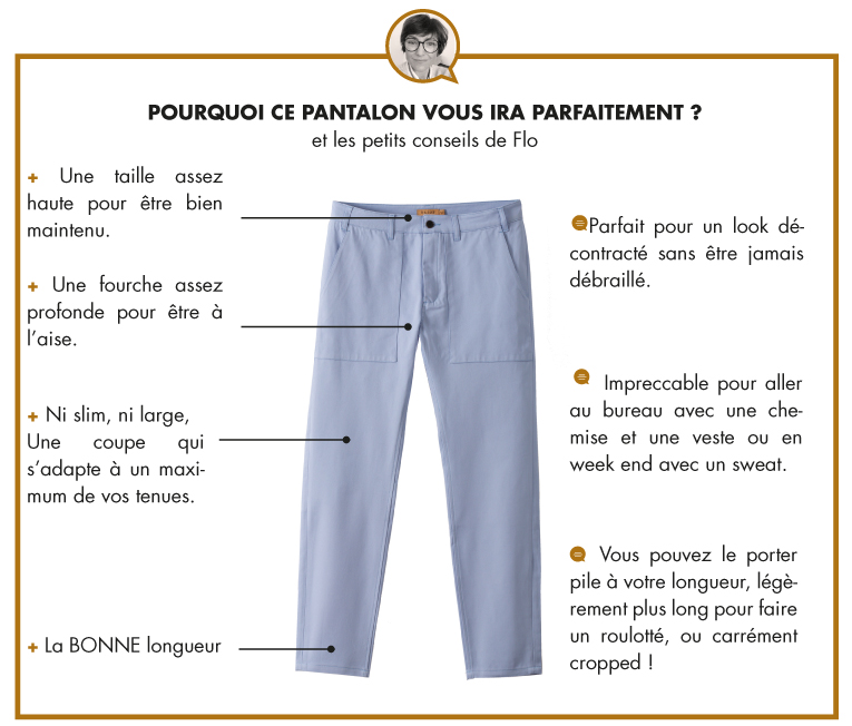 LE PANTALON WORKER - HORIZON