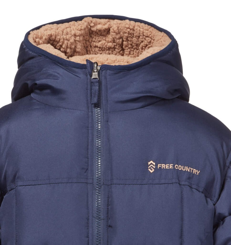 Little Boys' Variable Reversible Puffer Jacket with Hat