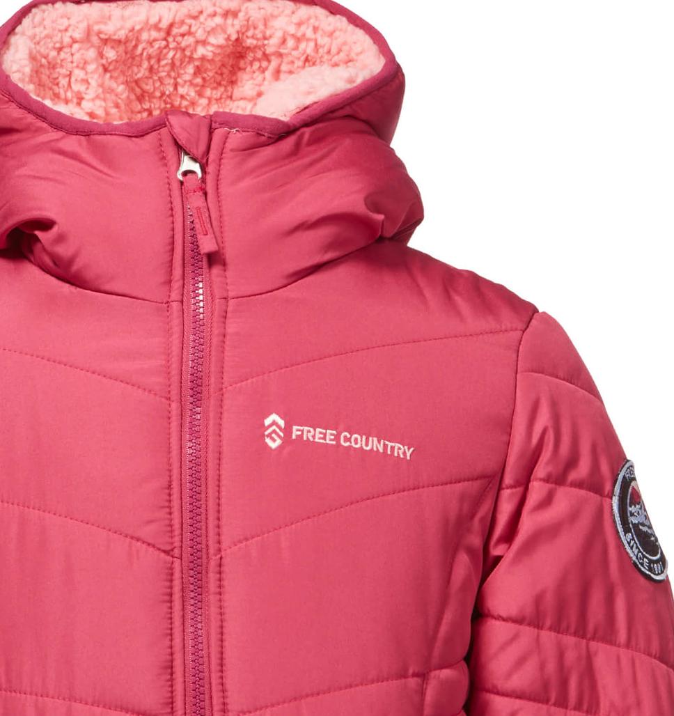Little Girls' Sherpa Reversible Puffer