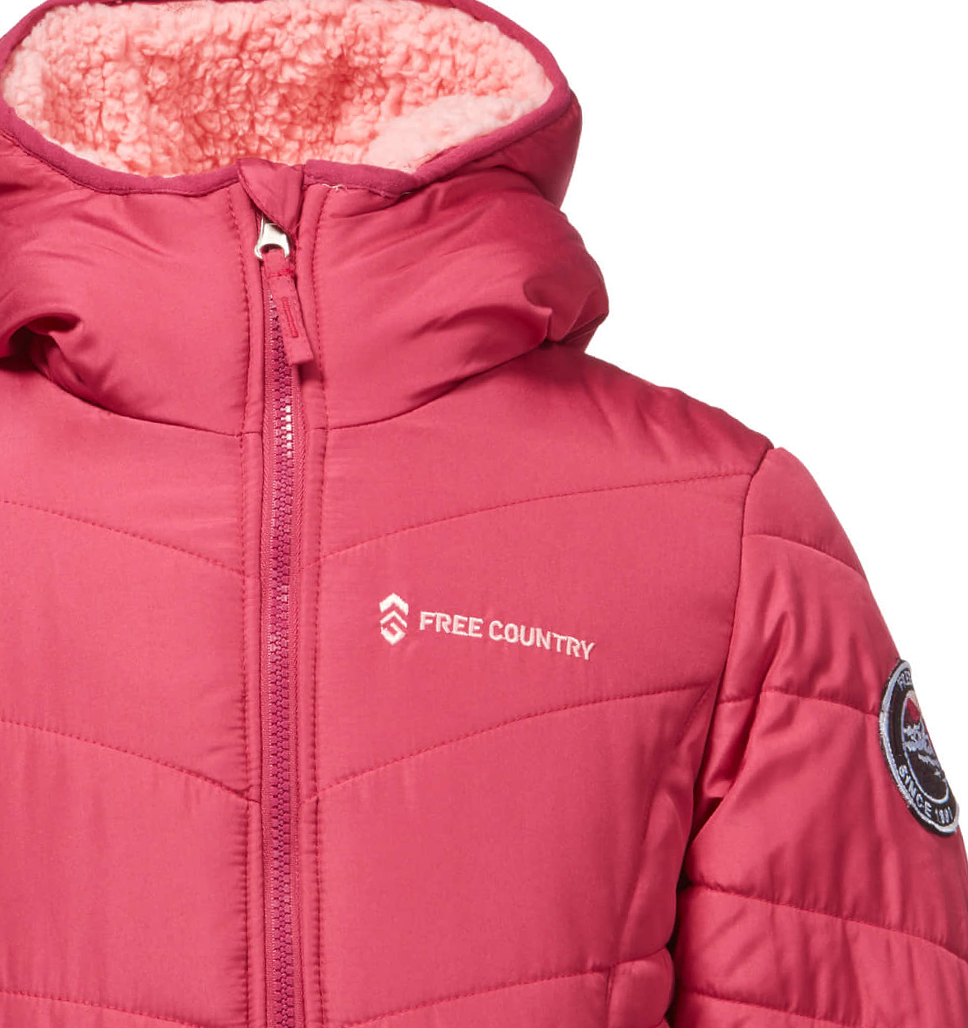 Girls' Sherpa Reversible Puffer