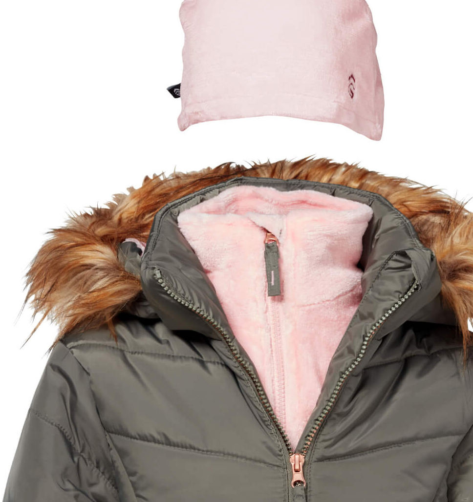 Girls' Vestee Puffer with Hat
