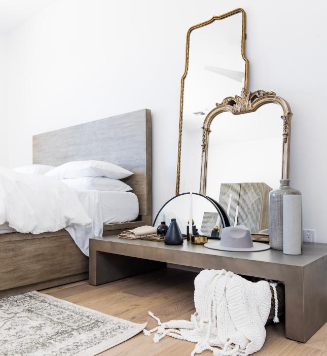 TheLifestyledCo #CortezBuild Bedroom Mirror Styling