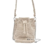 SAC SEAU MINI PAULETTE – TWEED NATUREL
