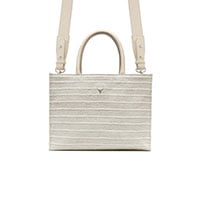 SAC MINI CHARLIE - TWEED BLANC