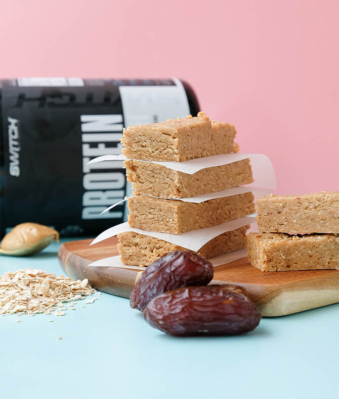 RECIPE - PEANUT BUTTER TOFFEE PROTEIN BARS