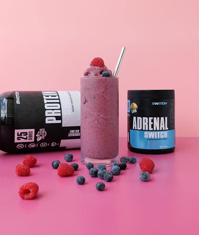 RECIPE - VERY BERRY PROTEIN  RECOVERY SMOOTHIE