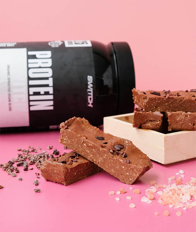 RECIPE - CHOC PEANUT BUTTER PROTEIN FUDGE