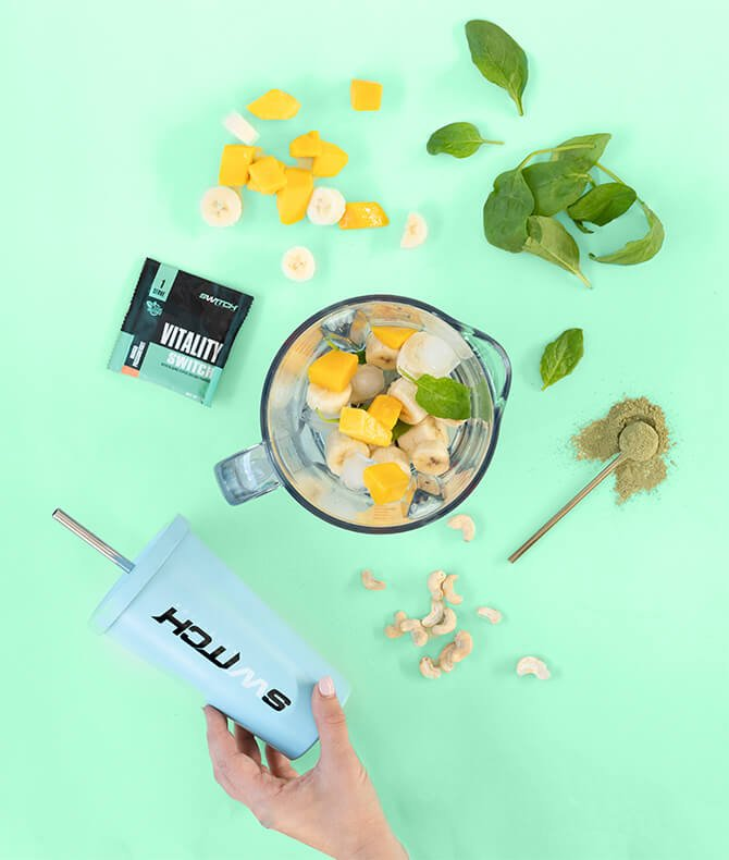 RECIPE - MANGO PASSIONFRUIT GREEN SMOOTHIE