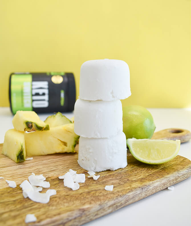 RECIPE - PINEAPPLE COCONUT FAT BOMBS