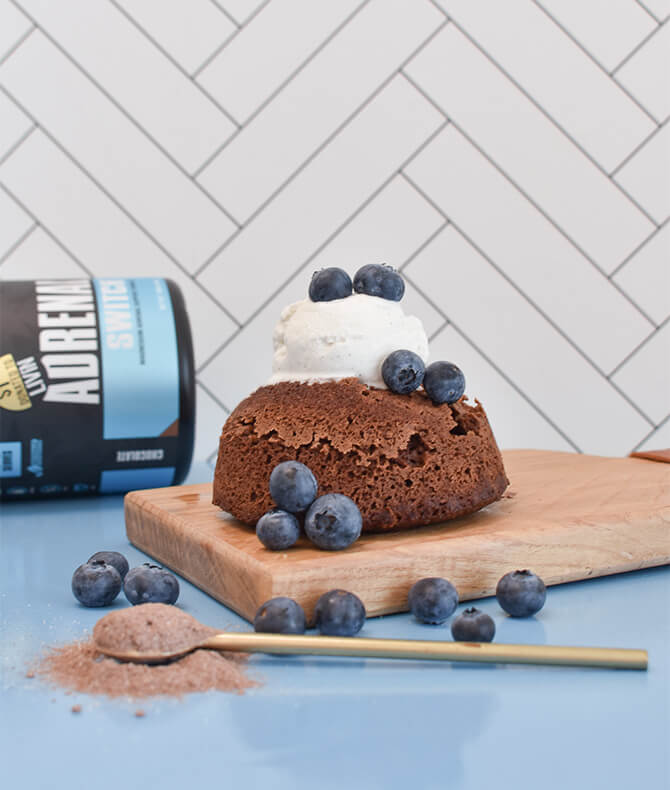 RECIPE - CHOC ADRENAL MUG CAKE