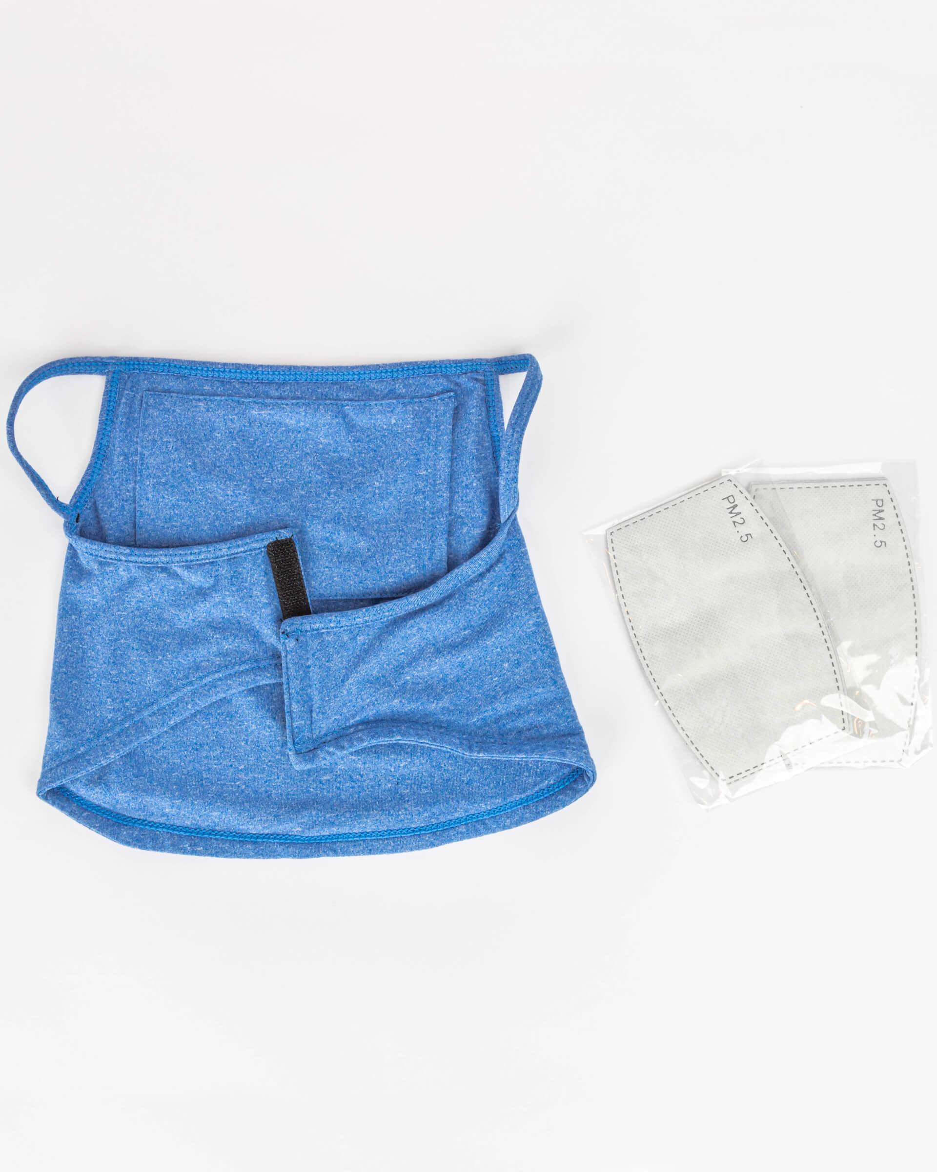 Boys' Protective Face Mask Gaiter w/ Filter Pocket - 2PC Set