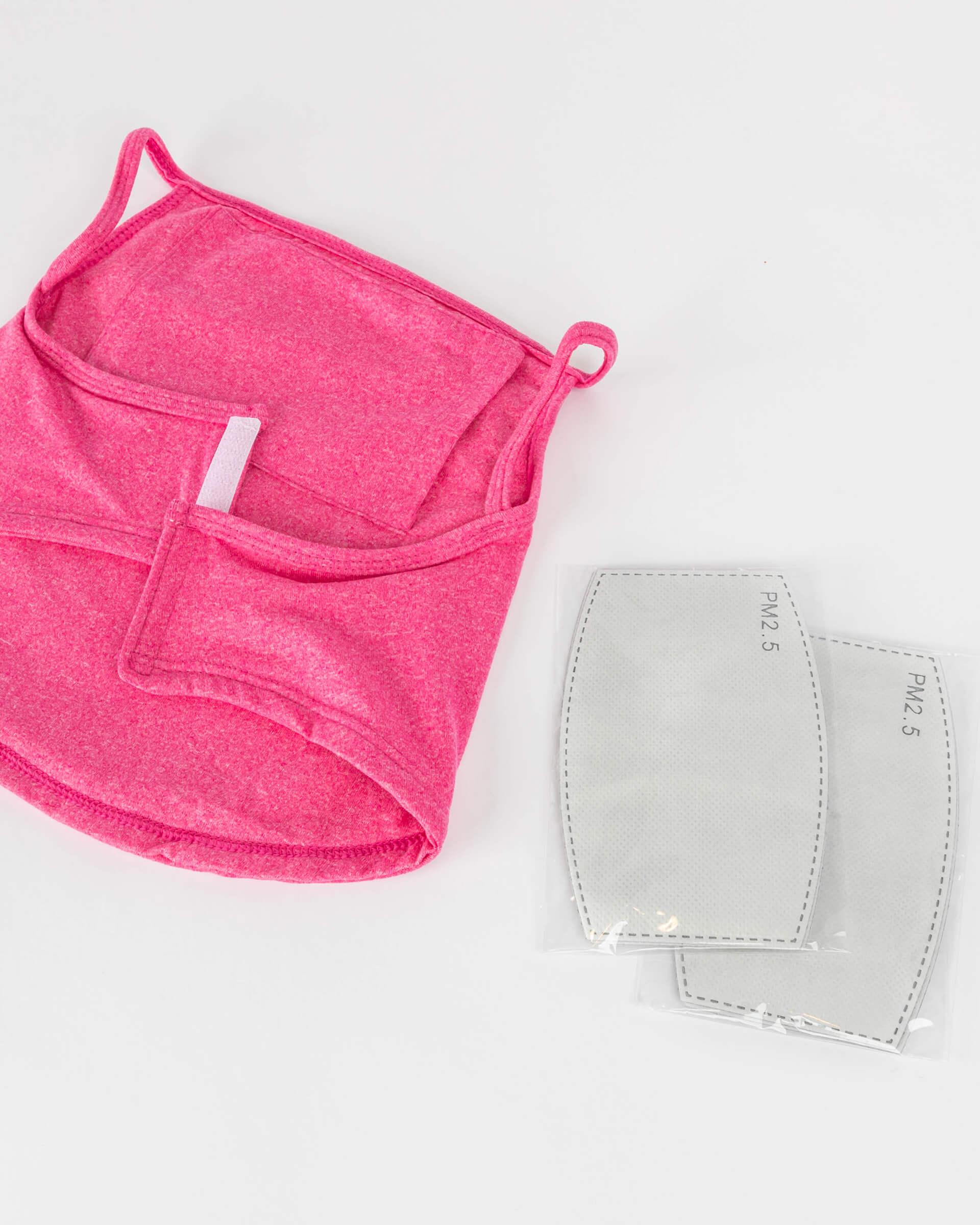 Girls' Protective Face Mask Gaiter w/ Filter Pocket - 2PC Set